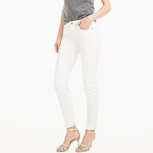 J. Crew Sateen Toothpick Jean in White